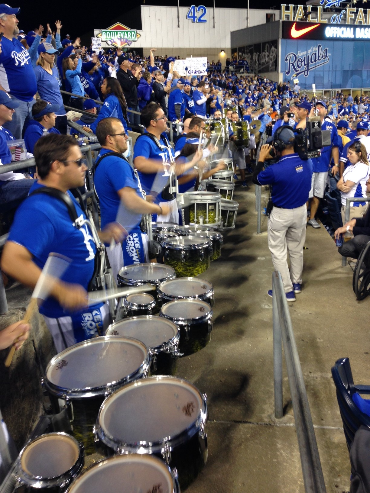 Drumline headed to Kansas City for American League series