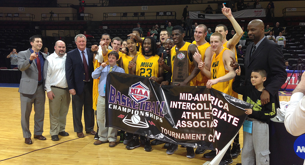 Men's Basketball wins 2014 MIAA Tournament with 84-72 win over Central Oklahoma