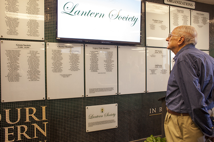 Dedication held for wall honoring university donors