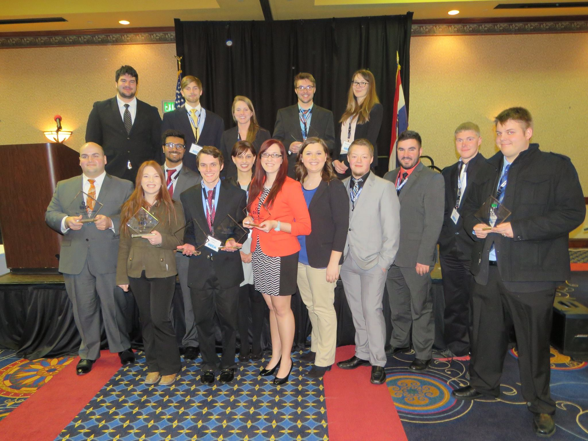 DECA club members honored at state competition