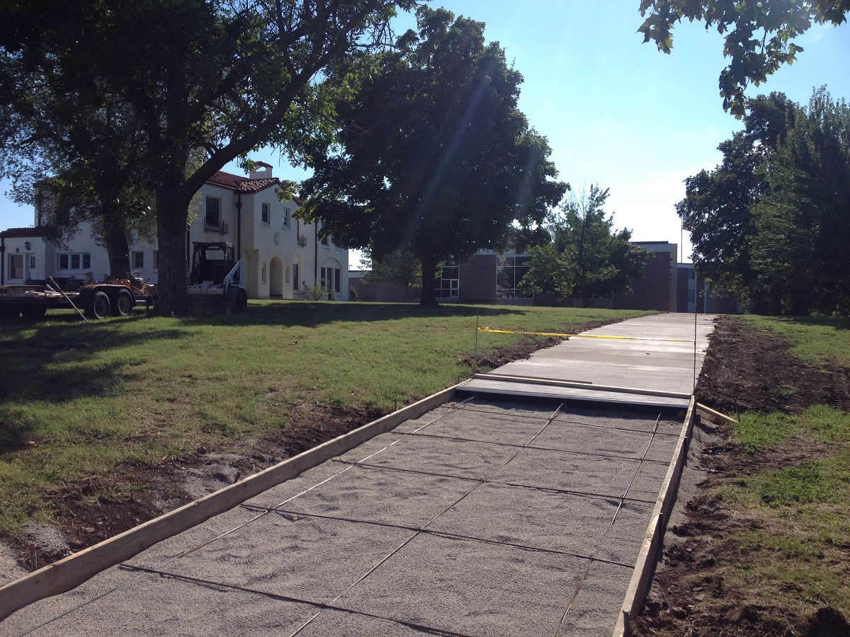 New sidewalk will offer easy access to mobile science labs