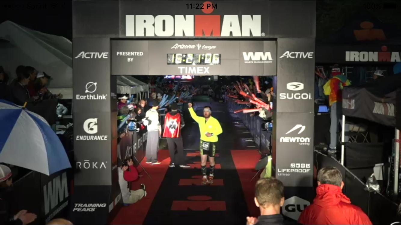 Brad Creamer completes Ironman Arizona event