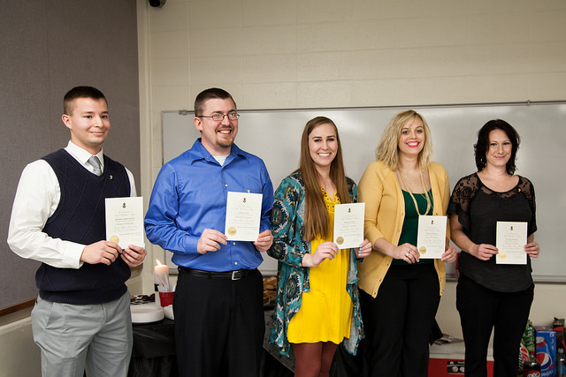 Students inducted into physics honor society