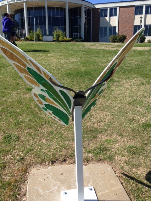 Butterfly sculpture honors tornado anniversary