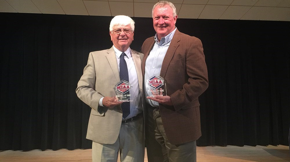 Eddin Santiago and Jim Frazier Inducted Into MIAA Hall of Fame