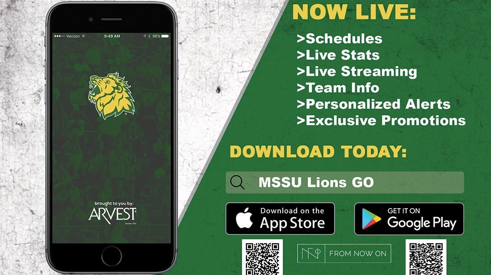 Southern Athletics And Arvest Bank Unveil MSSU Go Lions App