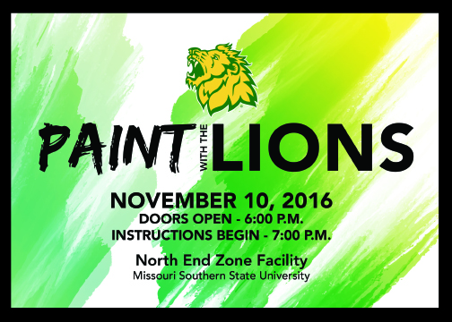 MSSU Athletics and RSVPaint have teamed up to Express Your Lion Pride On Canvas!