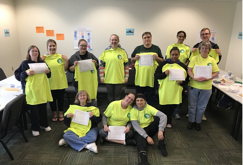 Students complete Green Dot training