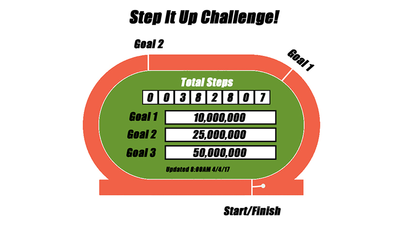 Step It Up Challenge: And we're off!