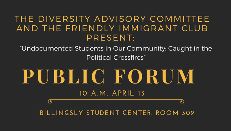Diversity Committee plans April 13 public forum