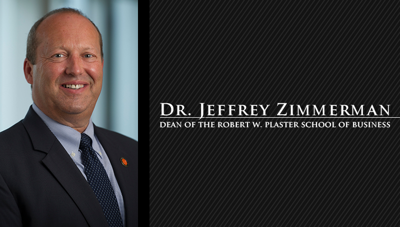 Dr. Jeffrey Zimmerman announced as dean of Plaster School of Business