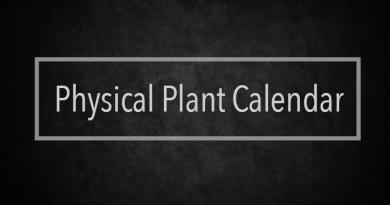 Physical Plant Calendar | Week of Feb. 26