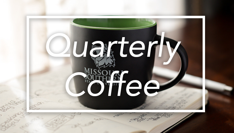 Quarterly Coffee set for Friday, Oct. 27