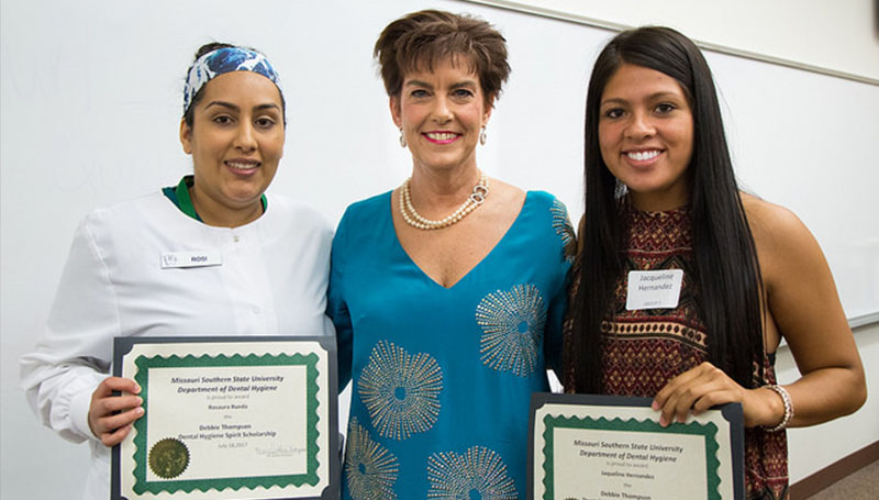 Dental hygiene students receive annual scholarship