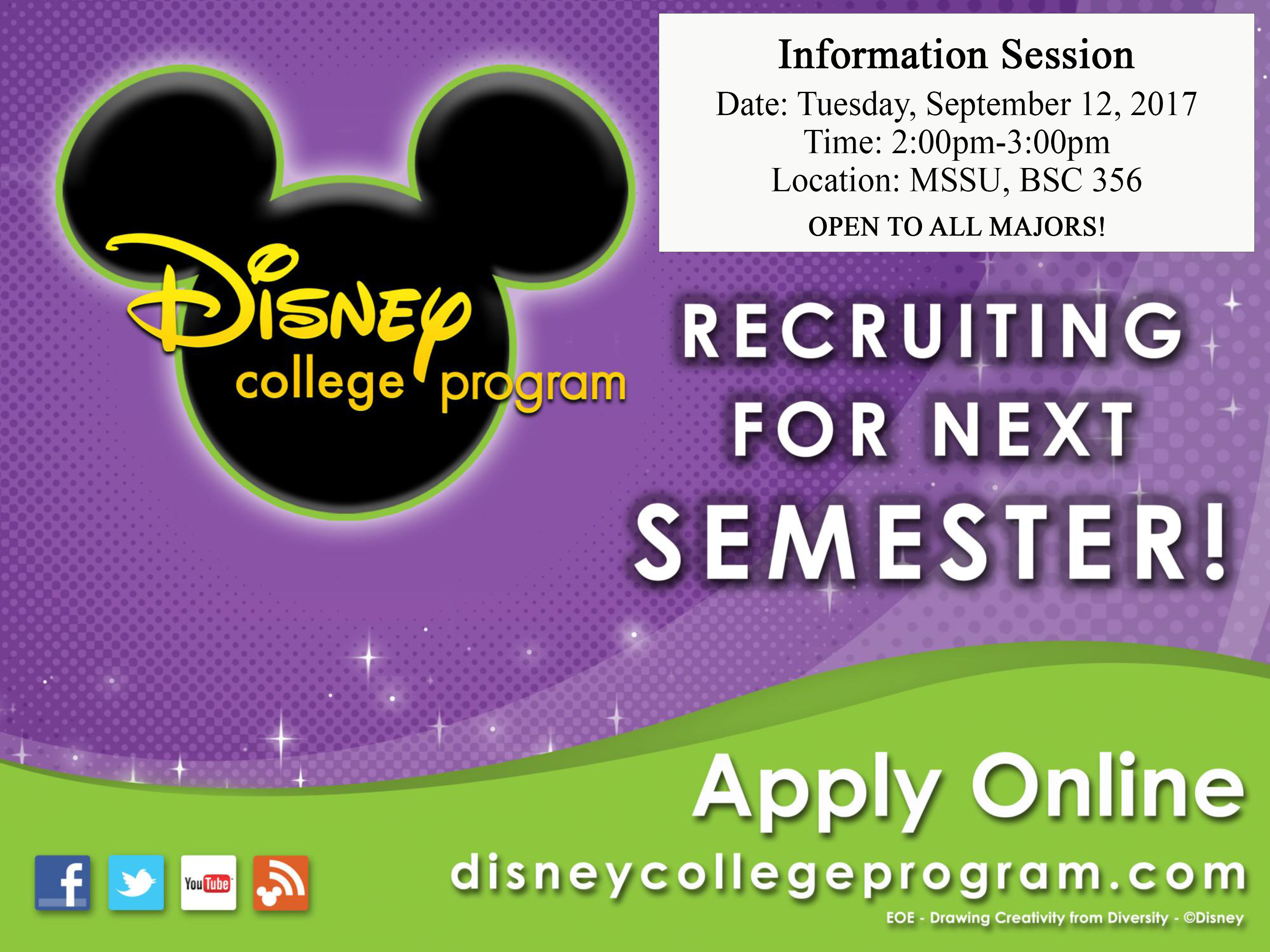 Applications available for Disney internship program