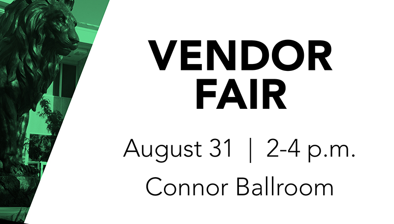Vendor Fair Set for August 31