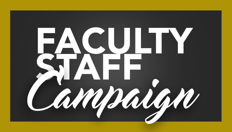 2017 Faculty Staff Campaign continues