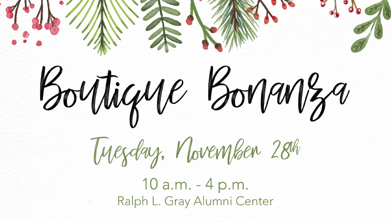 Alumni Center to host Boutique Bonanza on Nov. 28
