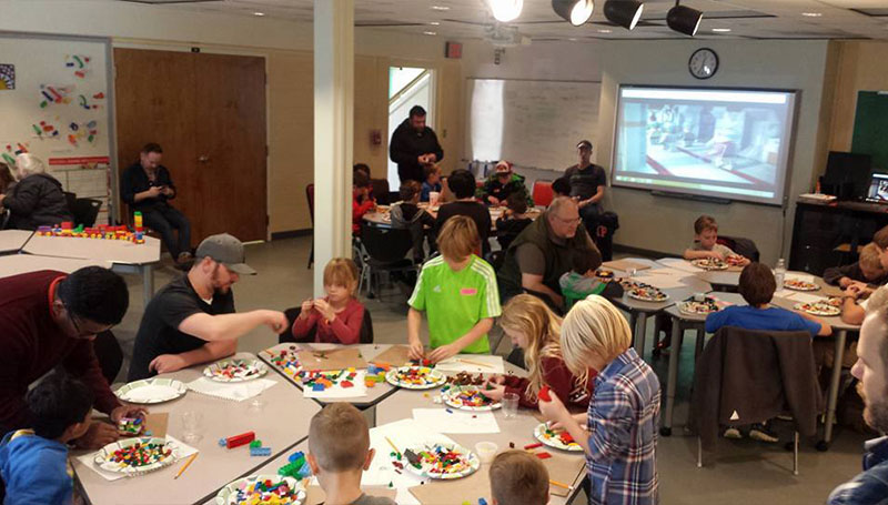Artists can build Lego masterpiece during Spiva event
