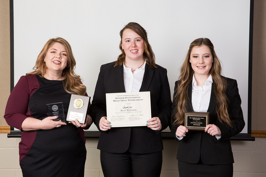 MSSU's Mock Trial team ends season with Outstanding Witness awards
