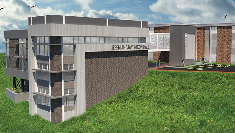 Construction of Nixon Hall begins at Missouri Southern