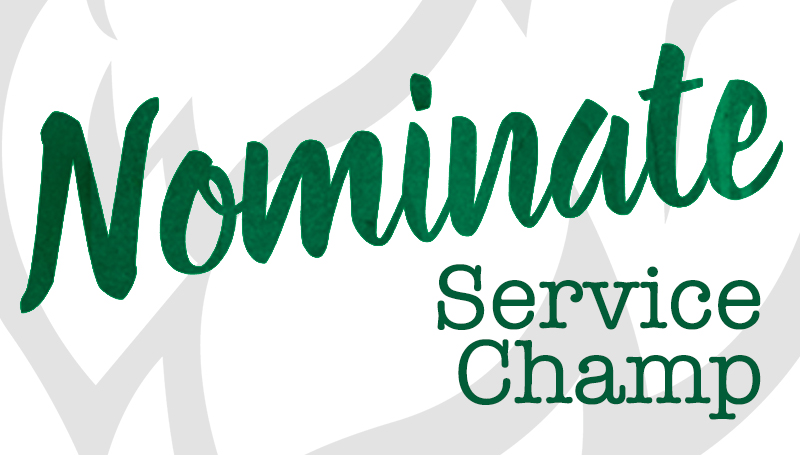 Service Champ Award nominations due by March 30