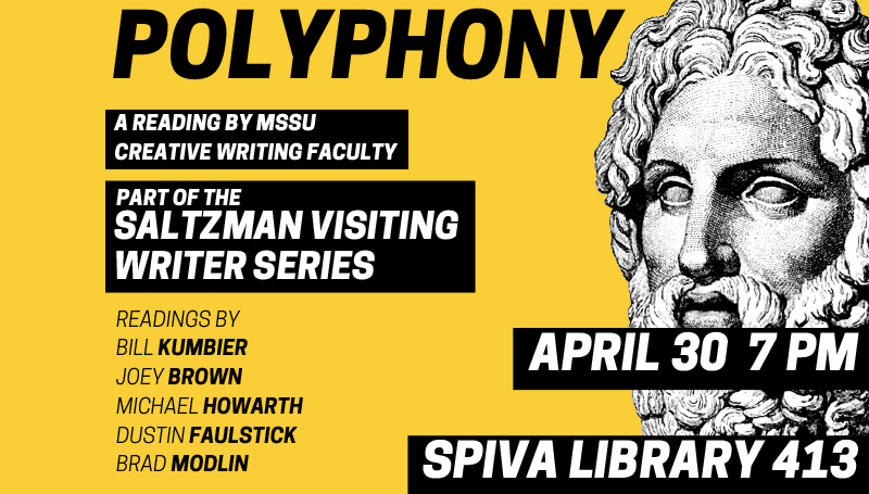 Polyphony to feature readings by English Department faculty