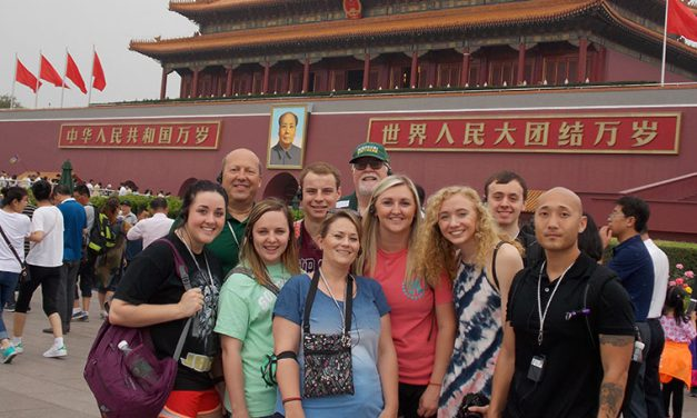 Students study international business in China