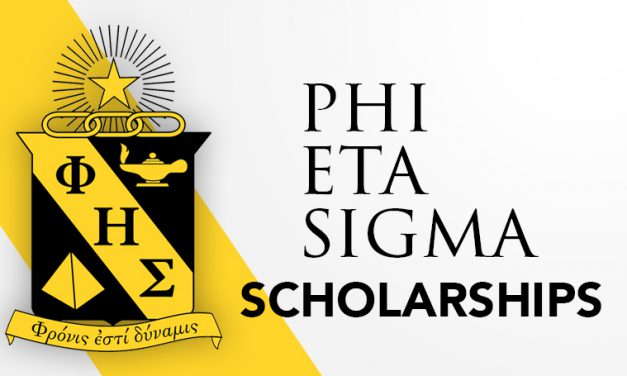 Phi Eta Sigma members receive national scholarship