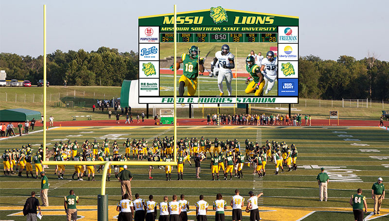 New videoboard to make a big impact at Fred Hughes Stadium