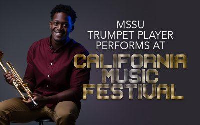 MSSU trumpet player performs at California music festival