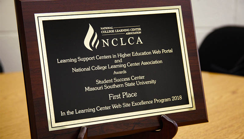 Student Success Center website receives national award