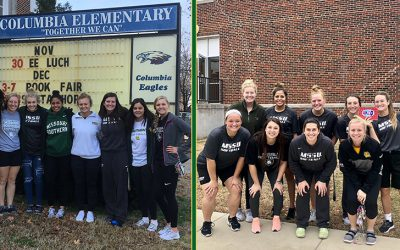 MSSU Softball Shares Time with Elementary School and Former Player