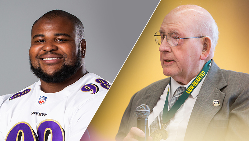 Brandon Williams, Glenn Wilson receive Pride & Purpose honors