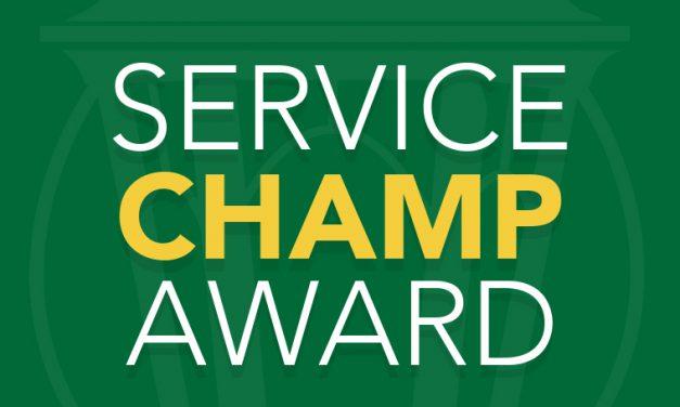 Staff Senate announces Service Champ Award recipients