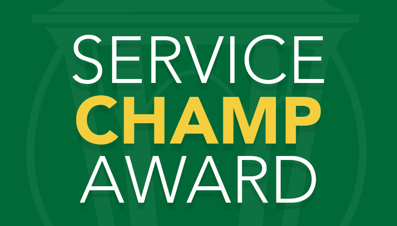 Staff Senate announces Service Champ Award recipients