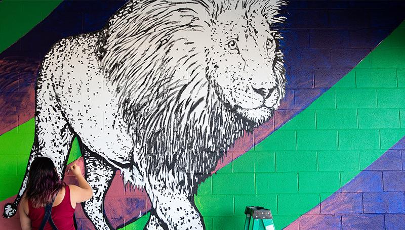 Pride of Joplin: New mural taking shape under Sixth Street viaduct