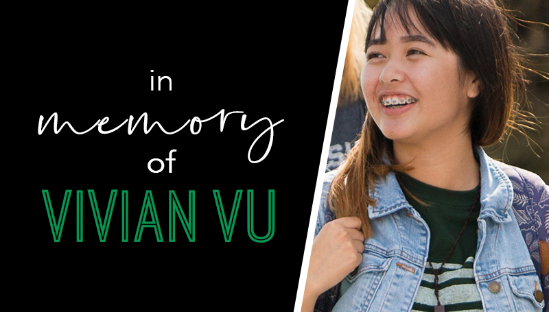 Endowed scholarship created in memory of Vivian Vu