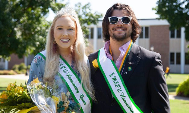 O'Connell, Hall crowned 2019 Homecoming King and Queen at MSSU