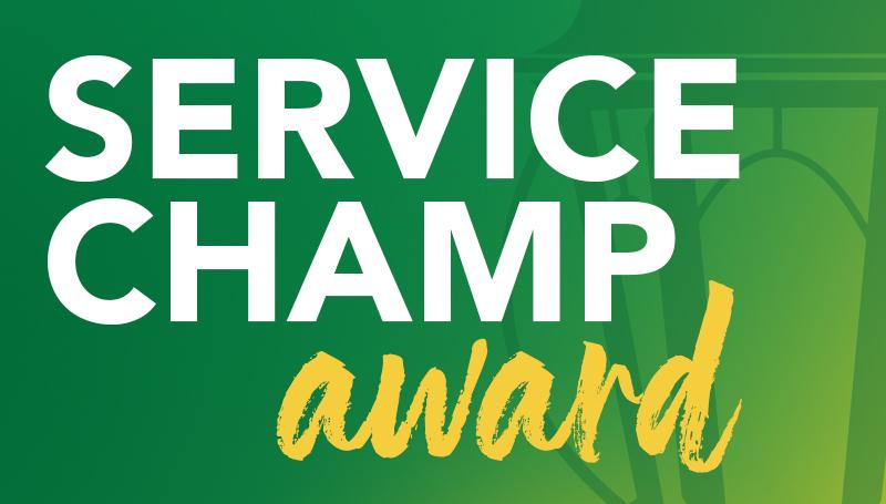 Staff Senate seeks nominees for Service Champ award