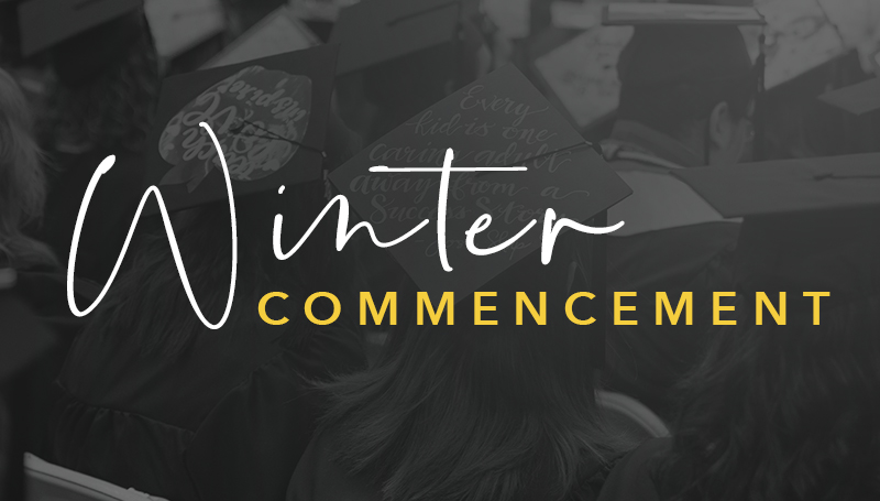 Winter commencement set for Dec. 14