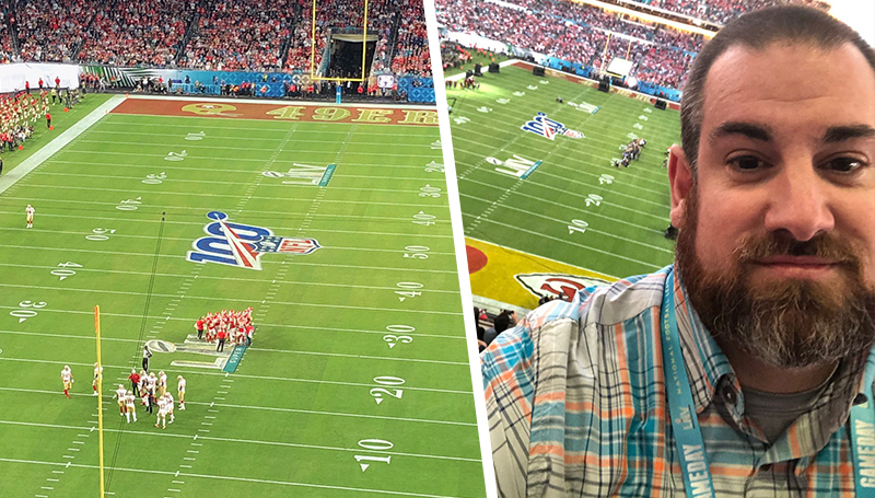 'Like being at a home game': Cody Thorn, '09, shares experience covering Super Bowl