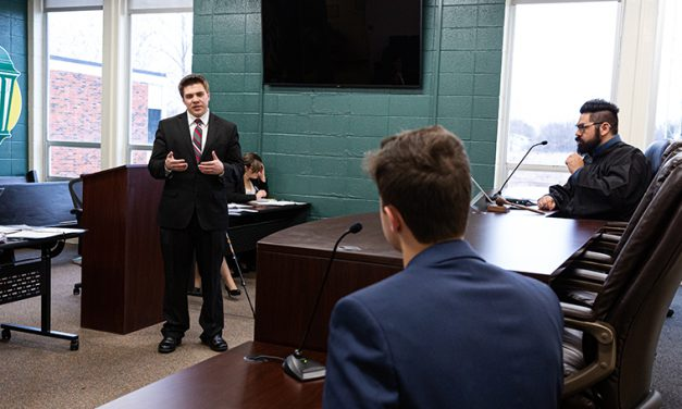 Court is now in session: Mock courtroom creates an immersive experience for students