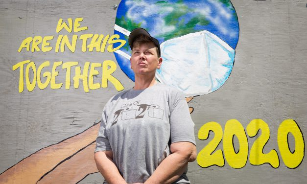 A show of support: Senior Jeanette Hughes' mural on display in Miami