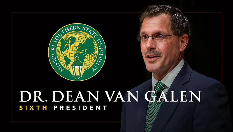 Dr. Dean Van Galen selected as Missouri Southern State University's sixth president