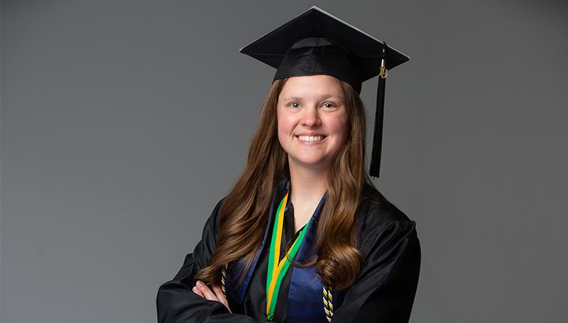 Whitney Blodgett named 2020's Outstanding Graduate
