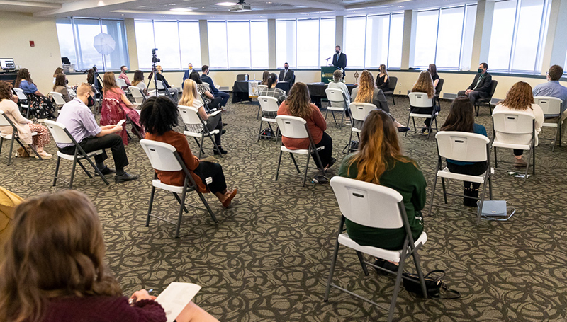 Golden circle: Omicron Delta Kappa inducts 41 students, 4 faculty/staff members